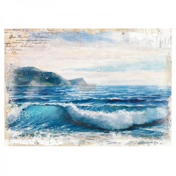 Transfer Blue Wave - 66,04 x 91,44 cm von ReDesign