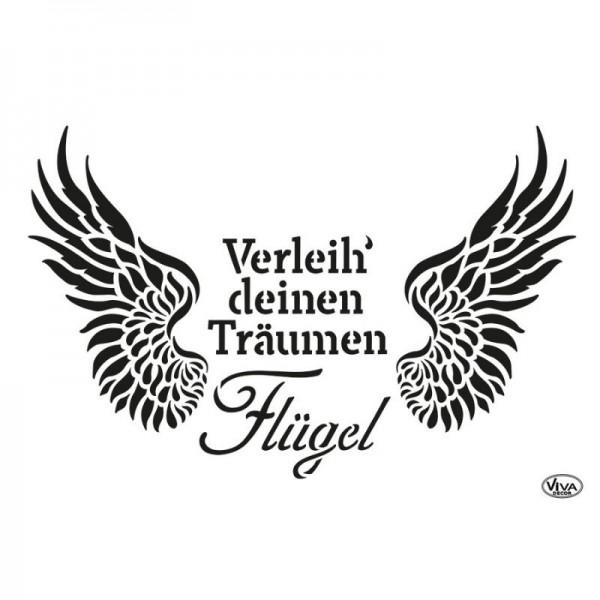 Schablone Verleih Deinen Träumen Flügel, A3 von Viva Decor