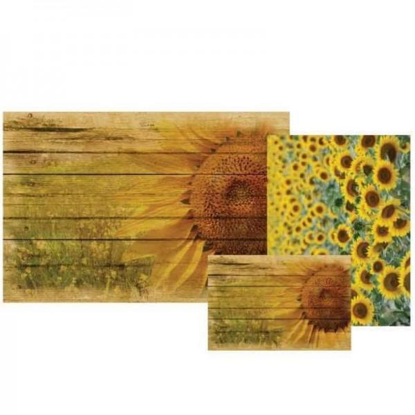 "Decoupage Papier Set ""Sunflower Fields"" von Grace on Design"