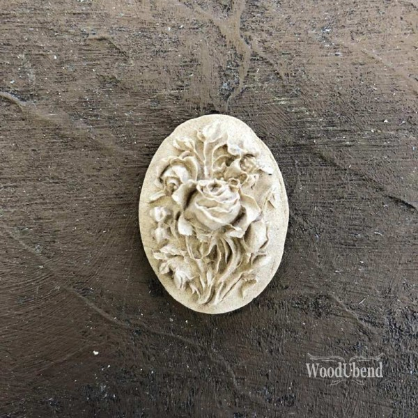 WoodUbend Flower Plaque Ornament 3,5 x 2,5 cm