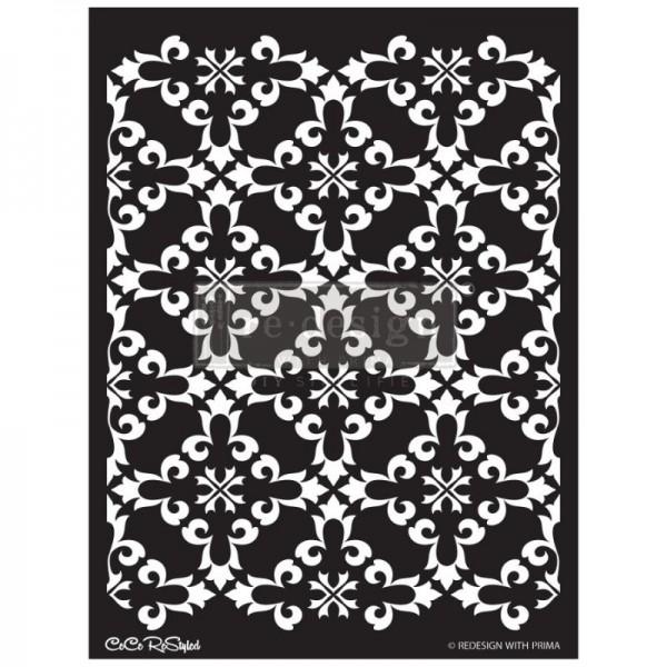 Decor Schablone Gothic Trellis ca. 42,42 x 55,37 cm Motivgröße von CECE ReDesign