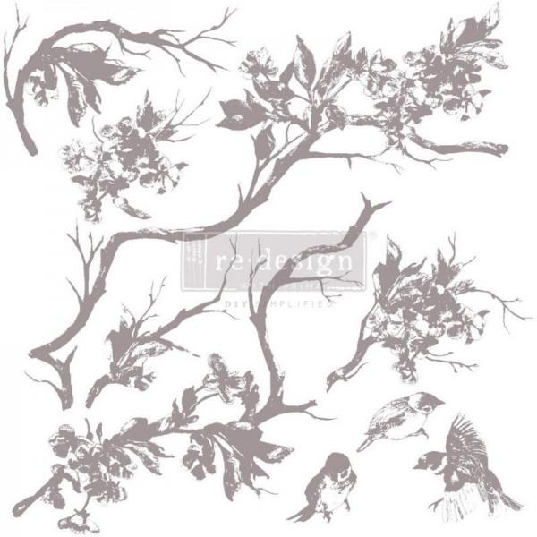 """Dekorstempel """"Forest Aviary"""" von Redesign - 9-teilig"""