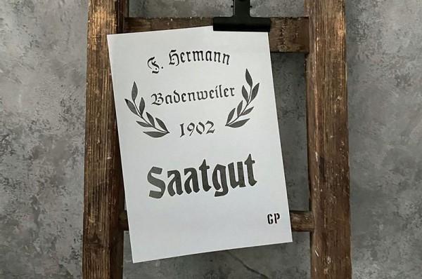 """Schablone """"Saatgut"""" von gonepaintin´"""
