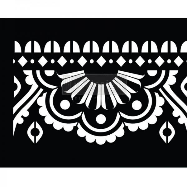 Stick & Style Schablone auf der Rolle Mendhi Border von ReDesign-