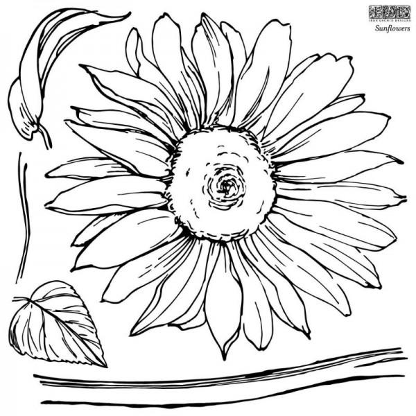 """Decor Stempel """"Sunflower"""" - 2 Bögen - Iron Orchid Designs"""