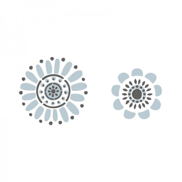 Dala Muses A4 Schablone - Folk Art Flowers