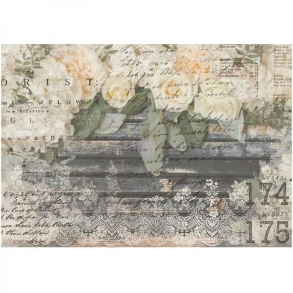 """Transfer """"White Fleur"""" 60,96 x 86,36 cm von Redesign"""
