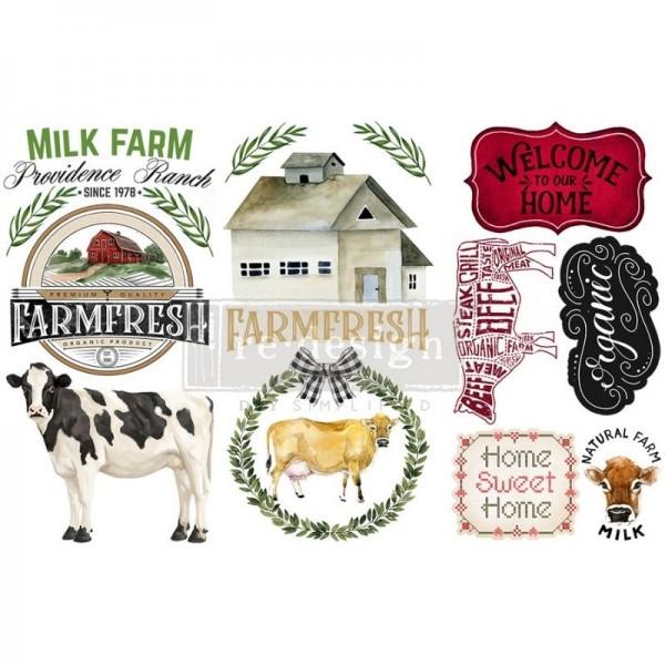 "Transfers ""Home &Farm"", 3-tlg. á 15,24 x 30,43 cm von ReDesign"