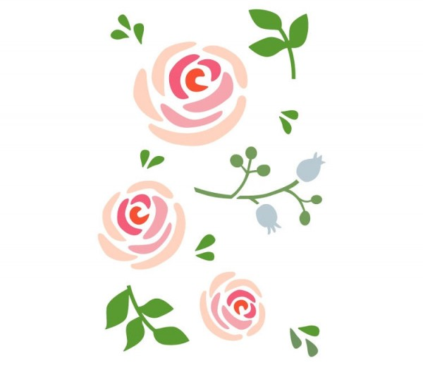 Dala Muses A5 Schablone - June Roses