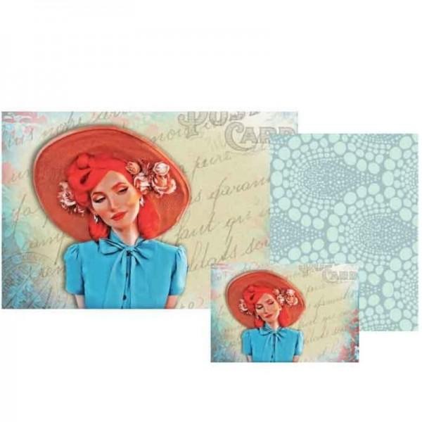 """Decoupage Papier Set """"Bella Blue"""" von Grace on Design"""