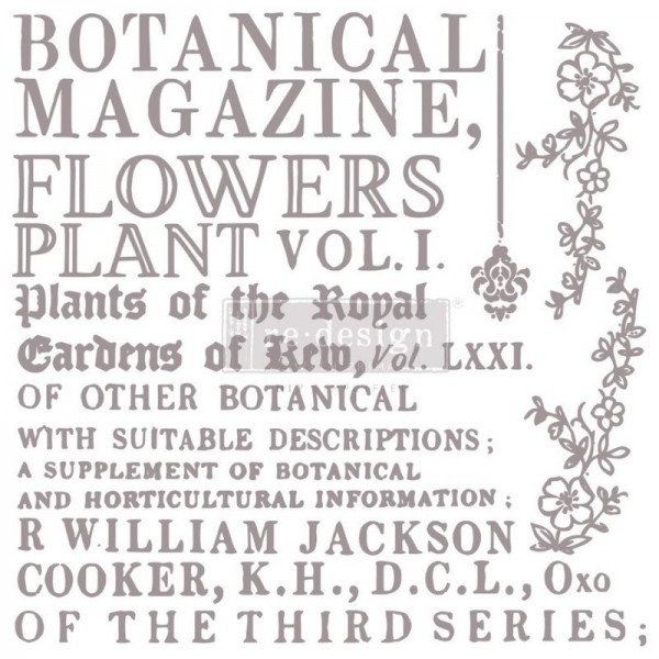 "Decorstempel ""Botanical Encyclopedia"" von ReDesign - 12-teilig"