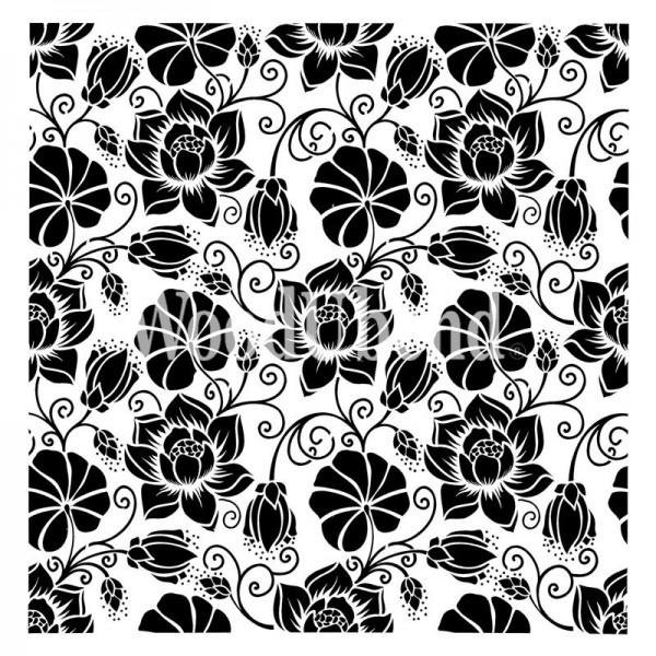 "XL-Schablone ""Water Lilly Flowers"" 50 x 50 cm"