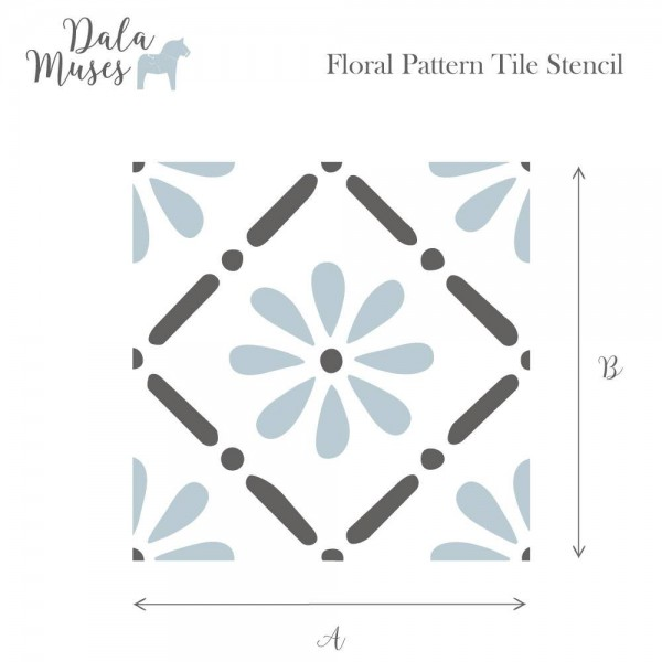Dala Muses A5 Schablone - Floral Pattern
