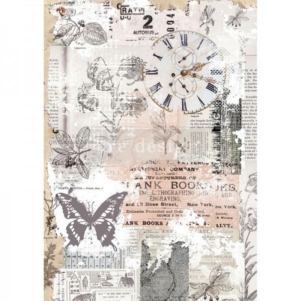 "Reispapier für Decoupage ""Herb's Memory"" 29,21 x 41,27 cm"