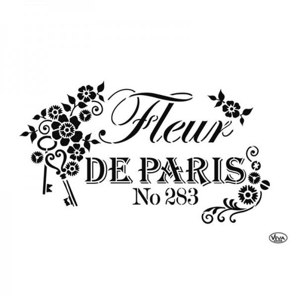"""Schablone """"Fleur de Paris"""" A4 von Viva Decor"""