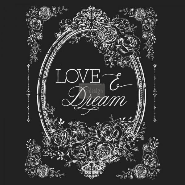 """Transfer """"Love & Dream"""" 55,88 x 76,20 cm von Redesign"""