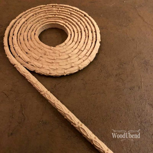 WoodUbend Trimming - Ornament gerollt - 210 x 0,7 cm