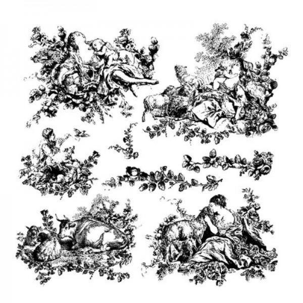 "Decor Stempel ""Pastoral Toile"" - Iron Orchid Designs"