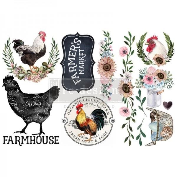 "Transfers ""Morning Farmhouse"", 3-tlg. á 15,24 x 30,43 cm von ReDesign"