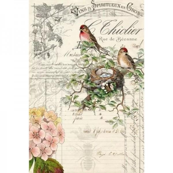 "Decoupage Tissuepapier ""Bird Ephemera"" 50,8 x 76,2 cm von Roycycled Treasure"