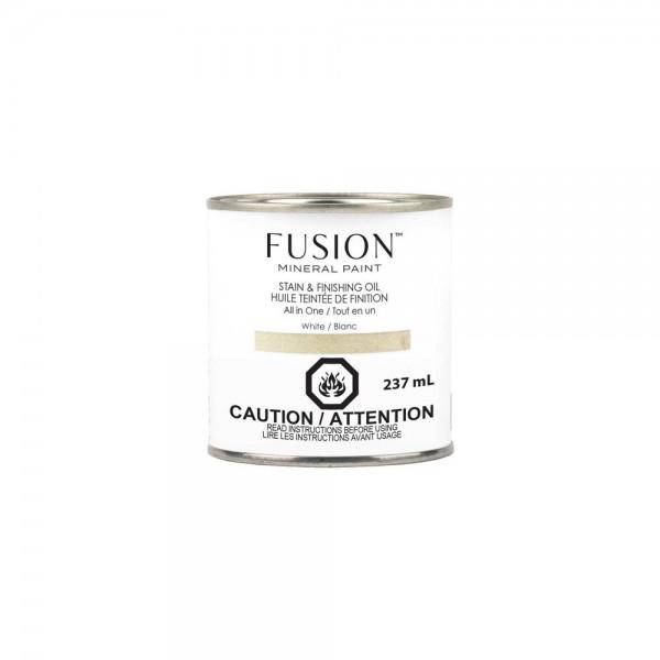 Stain & Finishing Oil von Fusion - White - 237 ml