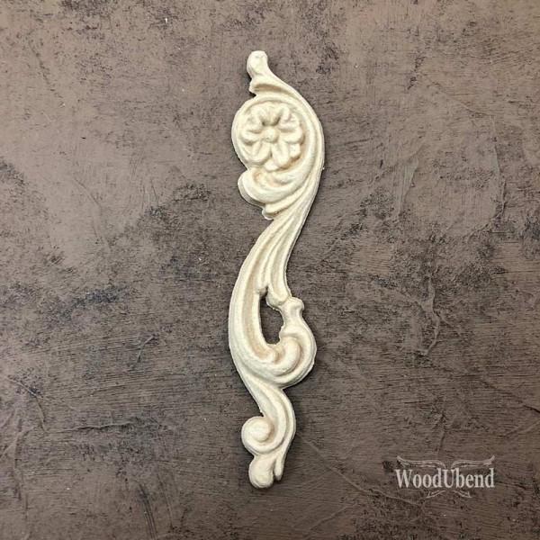 WoodUbend Schriftrolle - rechts - Ornament 12,2 x 2,8 cm