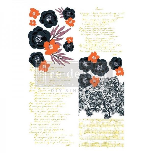 Transfer Fleur Noir - 2-teilig - 60,96 x 88,50 cm von ReDesign