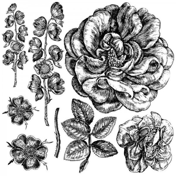 Iron Orchid Designs Stempel Rose