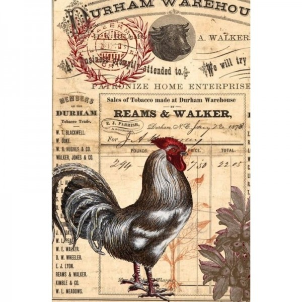 "Decoupage Tissuepapier ""Red Rooster"" 50,8 x 76,2 cm von Roycycled Treasure"