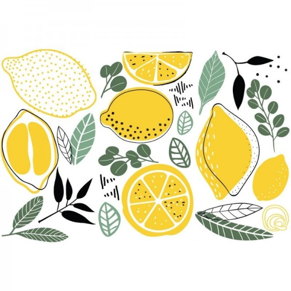 Transfers Lemon 3-tlg. á 15,24 x 30,43 cm von ReDesign