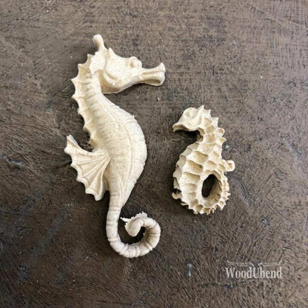 WoodUbend Seepferdchen - Ornament 5 x 1,5 cm
