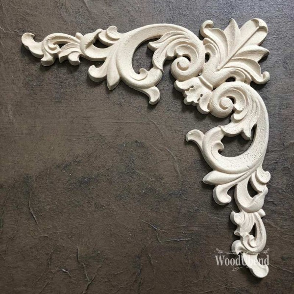 WoodUbend Pediment / Giebel Ornament 15 x 8 cm