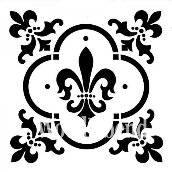 "Schablone ""Fleur de Lis"" von Posh Chalk 30 x 30cm"