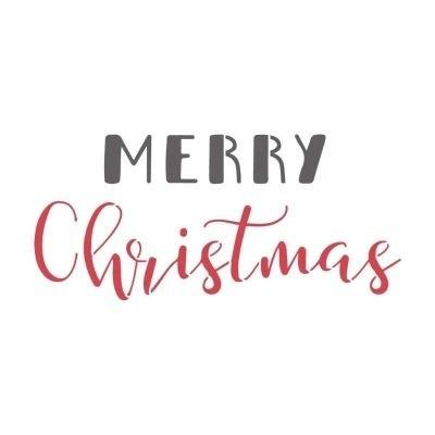 Dala Muses A4 Schablone - Merry Christmas