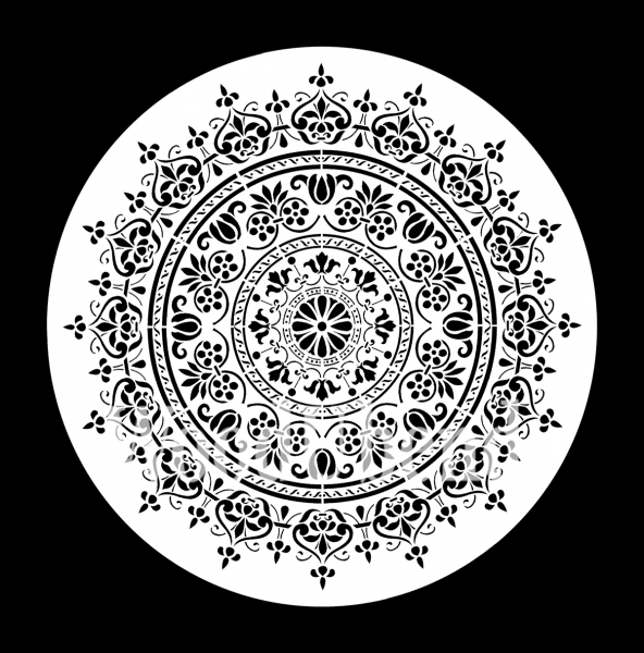"""Schablone """"Mandala"""" klein von Posh Chalk"""