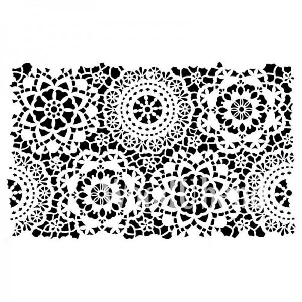 """Schablone """"Hippy Lace"""" von Posh Chalk 35x49 cm"""