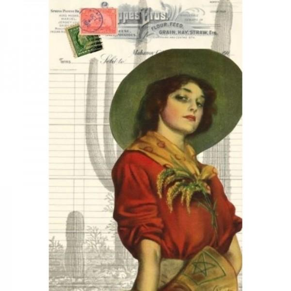 "Decoupage Tissuepapier ""Cowgirl Ephemera"" 50,8 x 76,2 cm von Roycycled Treasure"