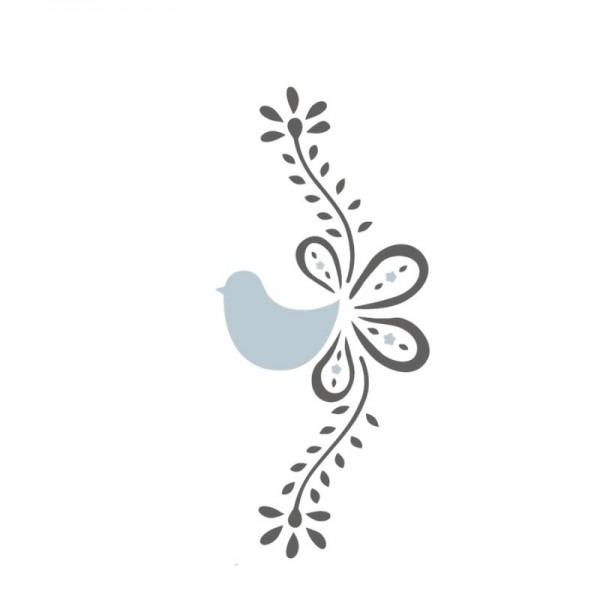 Dala Muses A5 Schablone - Scandi Bird