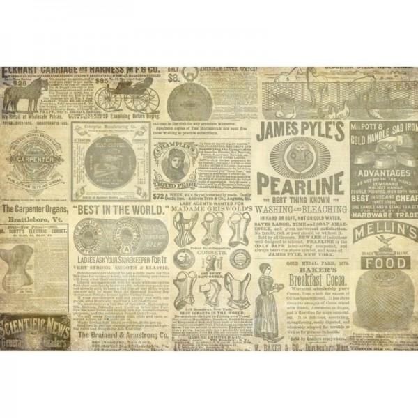 "Decoupage Tissuepapier ""Vintage Ads"" 50,8 x 76,2 cm von Roycycled Treasure"