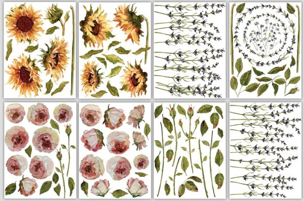 """Decor Transfer """"Painterly Floral""""- Iron Orchid Designs (IOD)"""