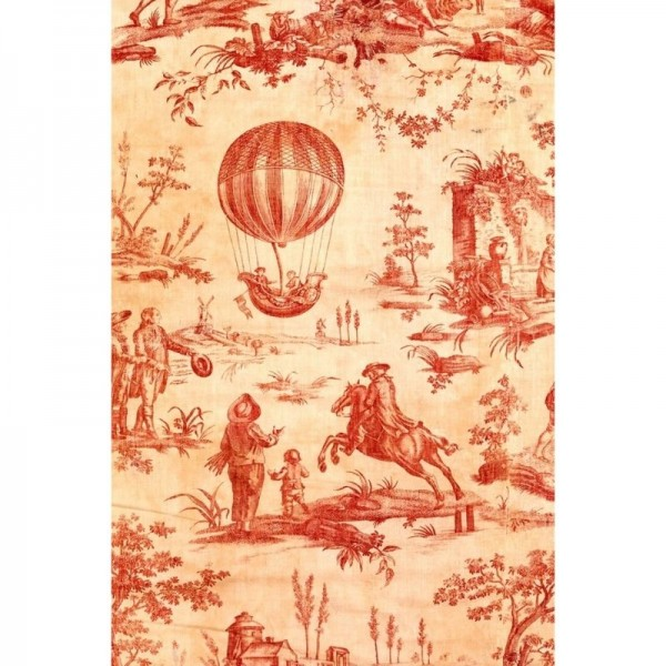 "Decoupage Tissuepapier ""Red Toile"" 50,8 x 76,2 cm von Roycycled Treasure"